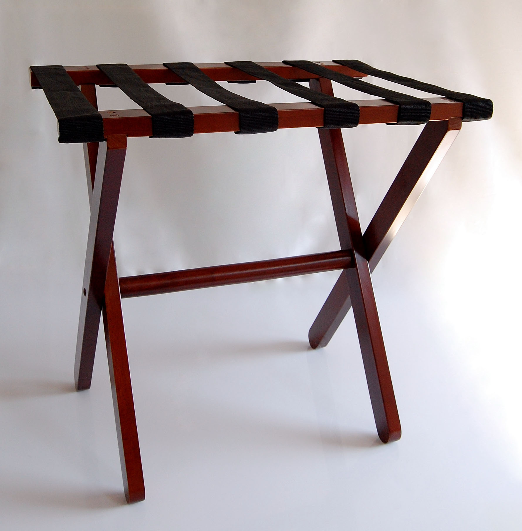 Dark Wood Luggage Racks