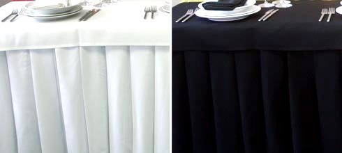 Table Skirts Pleated